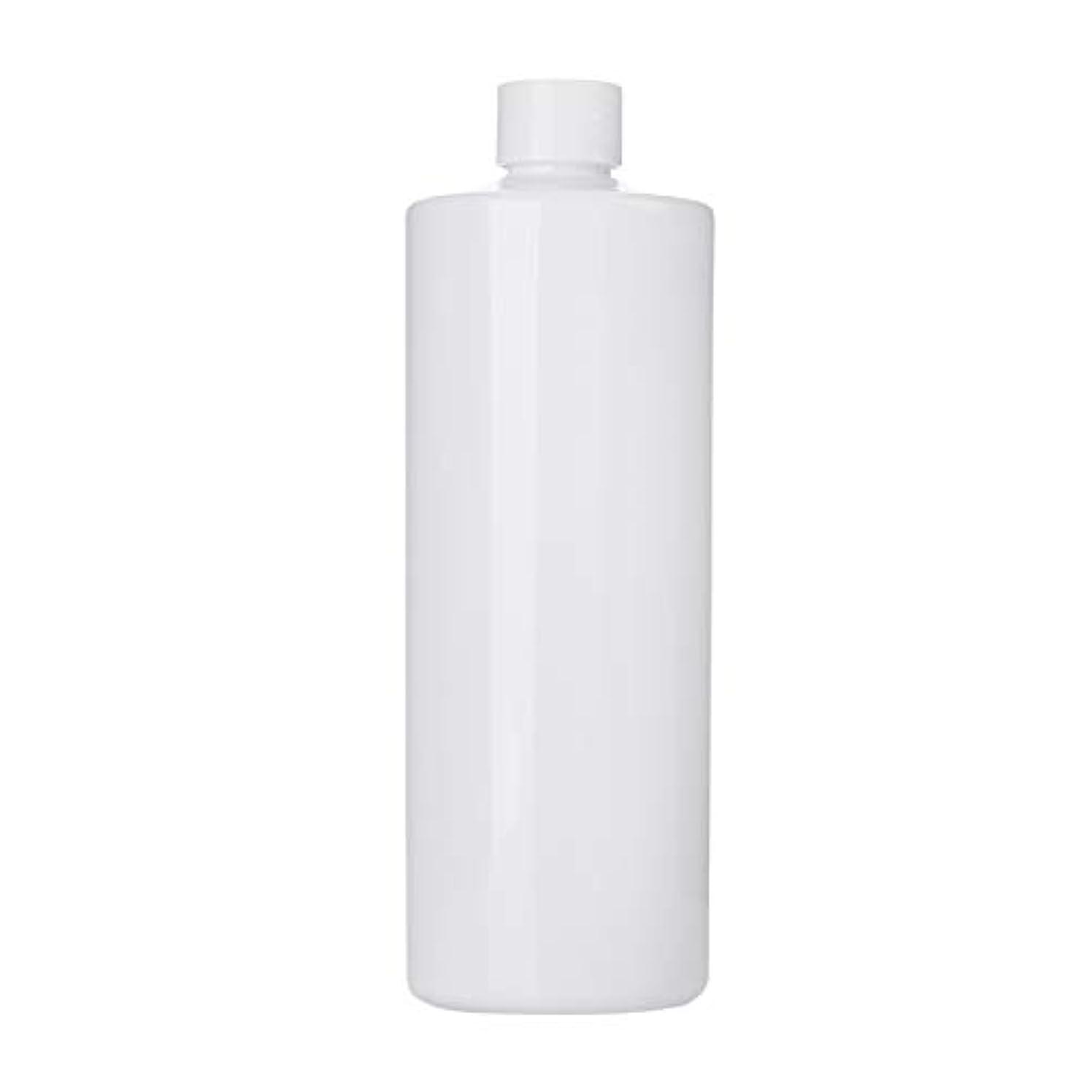 実行する透けて見える極貧1本 化粧品用 詰め替えボトル 詰め替え容器 大容量 500ml 中栓付き 使いやすい 化粧水用 シャンプー クリーム 貯蔵用 携帯用 空容器 おしゃれ 白ヘッド ホワイト
