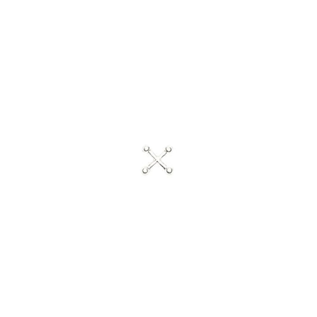 追う求人風変わりなボディピアスパーツ クロス/シルバー