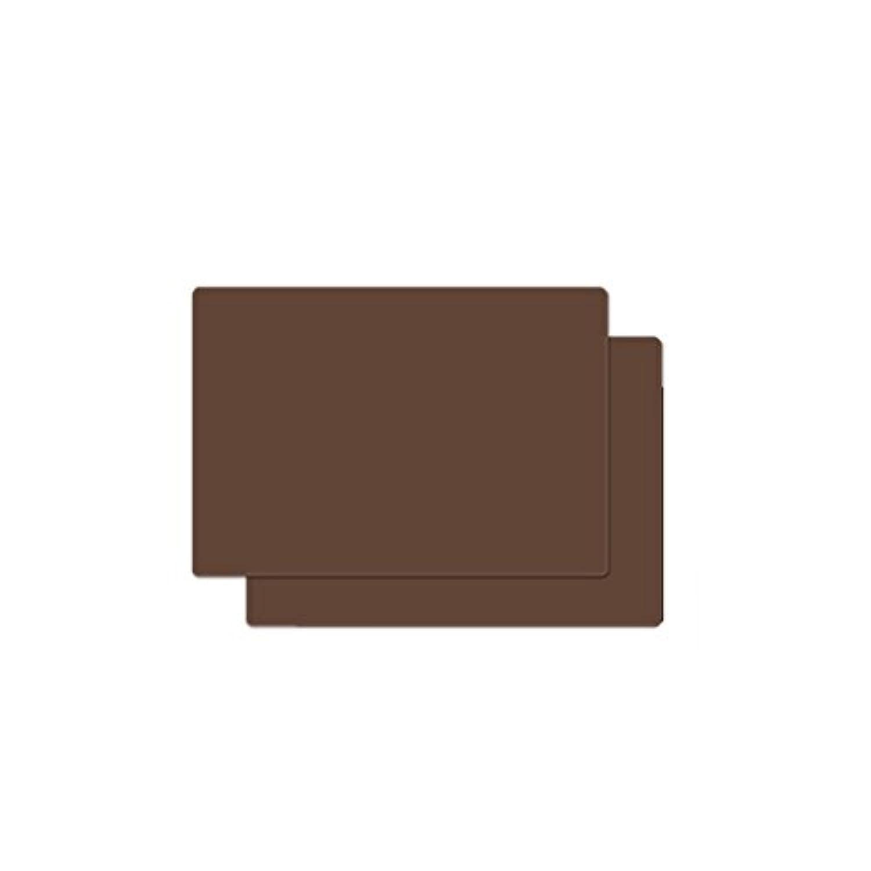Eshinny シリコン ランチョンマット テーブルマット 断熱 撥水 防汚 耐熱温度230℃ (ブラウン, 2)