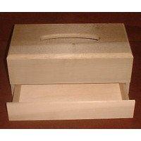 木彫り材料・ティッシュボックス 引き出し付