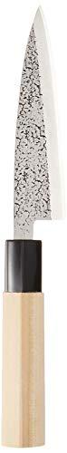 遠藤商事 業務用 槌目 貝サキ(片刃) 12cm 刃白鋼 柄木柄 日本製 ATT0112