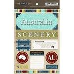 スクラップブックCustoms–Worldコレクション–オーストラリア–カードストックステッカー–Exploring