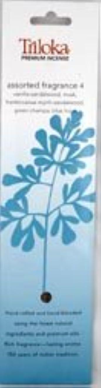 無謀球状記憶TrilokaプレミアムアロマセラピーIncense – Assorted Fragrancesグループ4