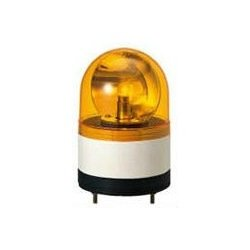 PATLITE(パトライト) RHB-24A-Y 小型回転灯 (Φ100) (ブザー付き) (定格電圧:DC24V) (黄) SN