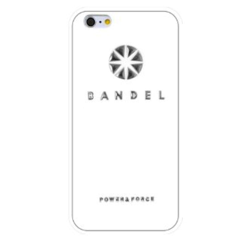 食用誤解を招く入口バンデル(BANDEL) ロゴ iPhone 7専用 シリコンケース [ホワイト×シルバー]