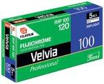 FUJIFILM リバーサルフィルム フジクローム Velvia 100 ブローニー 12枚 5本 120 VELVIA100 EP 12EX 5