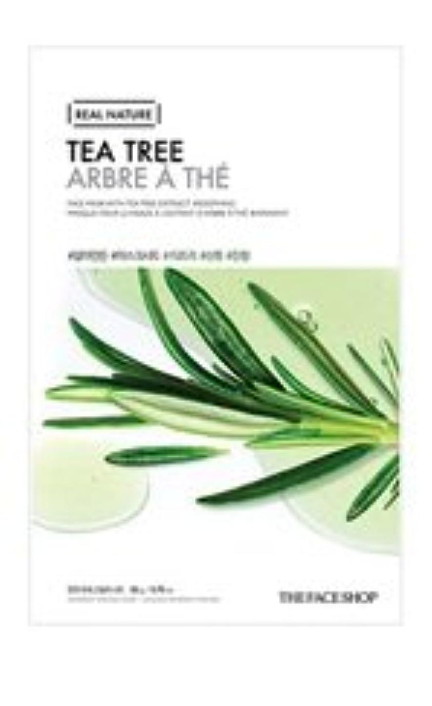 汚物接続詞クラシック[20pcs] THE FACE SHOP Real Nature Mask Sheet (TEA TREE) / ザフェイスショップ リアルネイチャーマスクシート [並行輸入品]