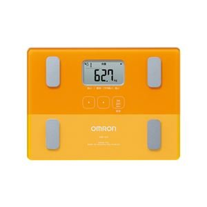 オムロン 体重体組成計 コンパクト&スリム 自動認識機能付き HBF-223-YR オレンジ