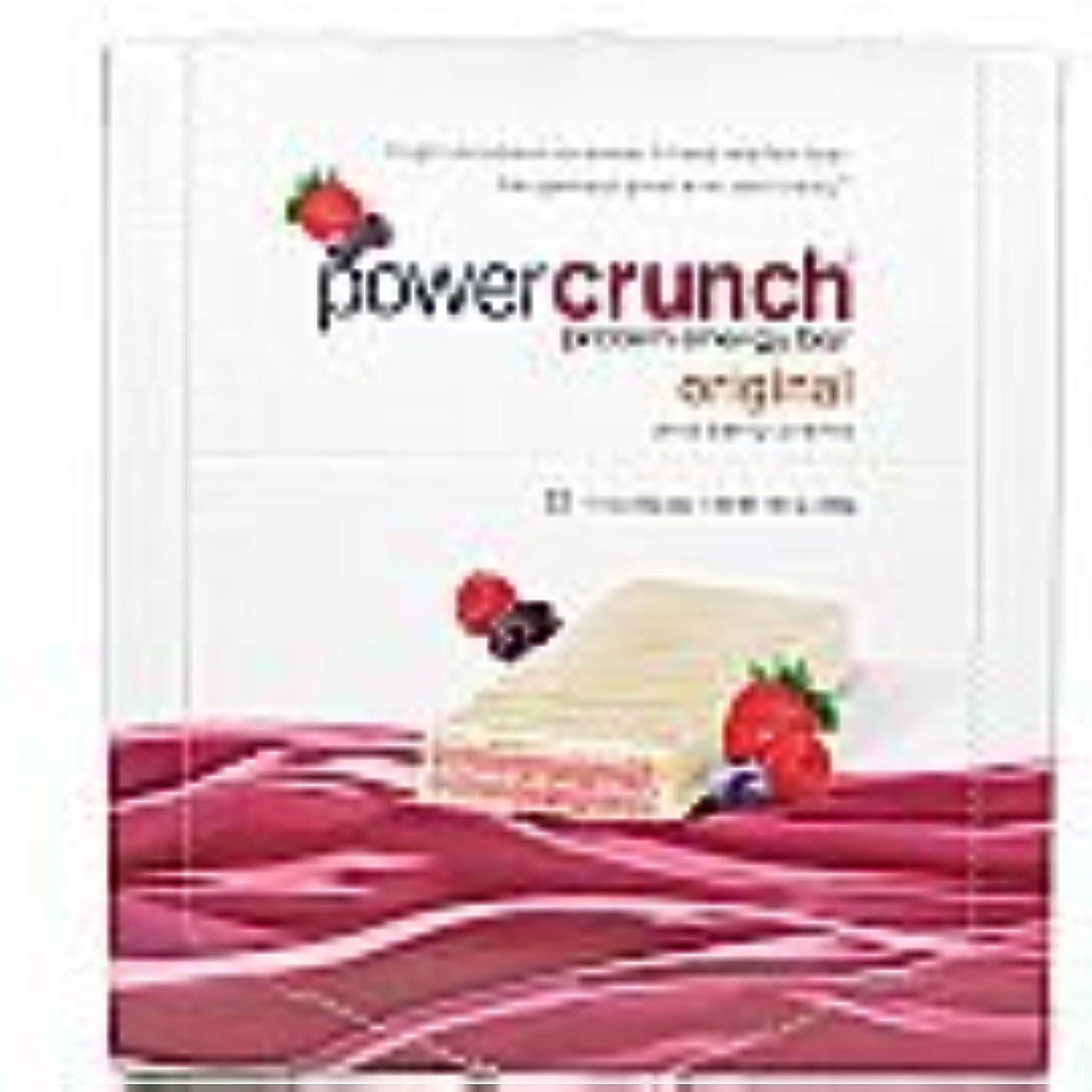 準拠優越ぬれたBioNutritional Research Group Power Crunch Bar 12 Bars Wild Berry Creme [並行輸入品]