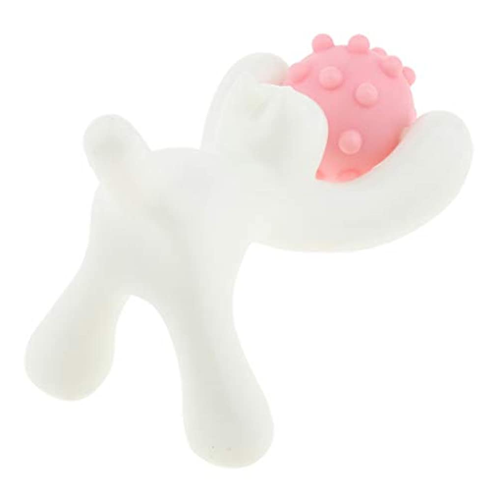 尊敬する漏斗まとめるフェイスローラー 美顔ローラー マッサージ 猫の形 耐久性 顔/背中/ボディ用 使いやすい 3色選ぶ - ピンク
