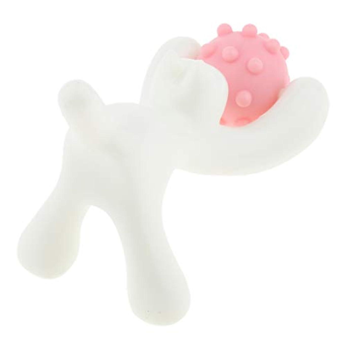 なぜならトレイペルメルフェイスローラー 美顔ローラー フェイス ボディー用 マッサージローラー 猫の形 快適 3色選ぶ - ピンク
