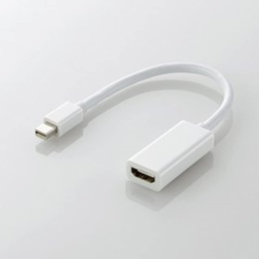 もろいマングル下品【まとめ 4セット】 エレコム Mini DisplayPort-HDMI変換アダプタ AD-MDPHDMIWH
