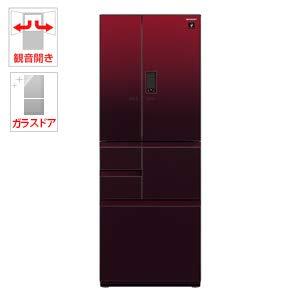 シャープ 551L 6ドア冷蔵庫(グラデーションレッド)SHARP プラズマクラスター冷蔵庫 SJ-GX55E-R
