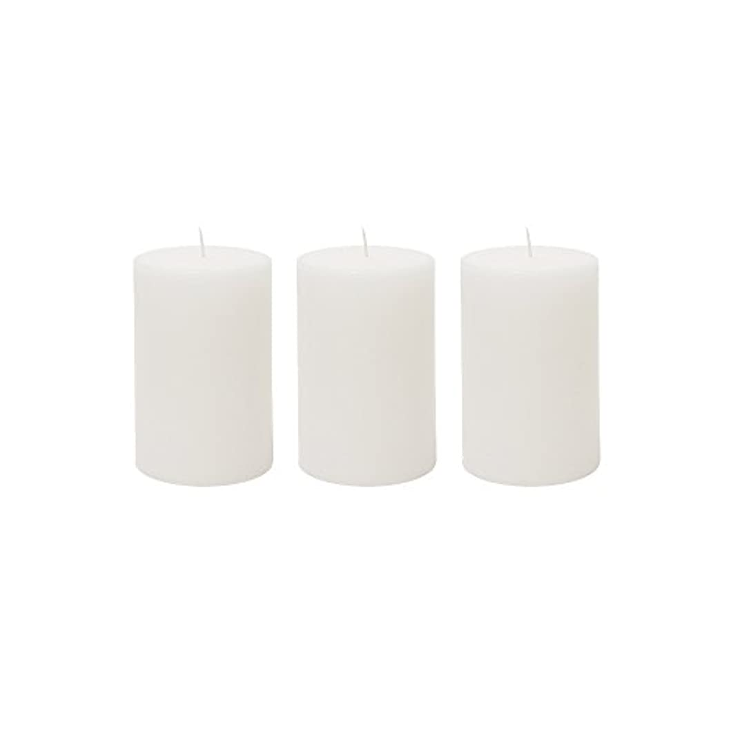 (3, 5.1cm x 7.6cm Round) - Mega Candles 3 pcs Unscented White Round Pillar Candle Hand Poured Premium Wax Candles...