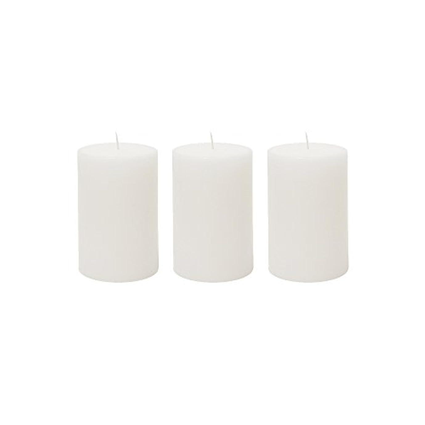 換気する強盗非常に(3, 5.1cm x 7.6cm Round) - Mega Candles 3 pcs Unscented White Round Pillar Candle Hand Poured Premium Wax Candles...