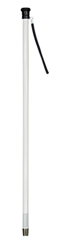 声を出して冷笑するサンドイッチ【非課税】 豊通オールライフ 盲人用白杖 (木製 丸) 全長101cm 重量230g 普通型 ストレート?直杖 本体木製 グリップ樹脂製 盲人用 安全杖 蛍光テープ付 日本製