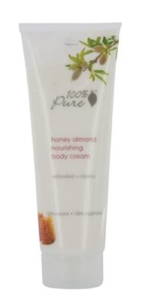 大臣ミントり100% Pure Honey Almond Nourishing Body Cream 8 oz by 100% Pure [並行輸入品]