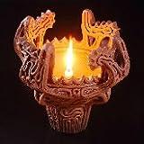 小池ろうそく店 縄文式 火焔型土器 出土着色特別仕様 和ろうそく2本 専用燭台付