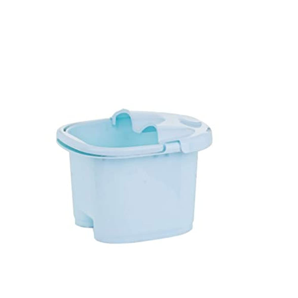 フィヨルド投票時制BB- ?AMT携帯用高まりのマッサージの浴槽のふたの熱保存のフィートの洗面器の世帯が付いている大人のフットバスのバケツ 0405 (色 : 青, サイズ さいず : 23.5cm high)