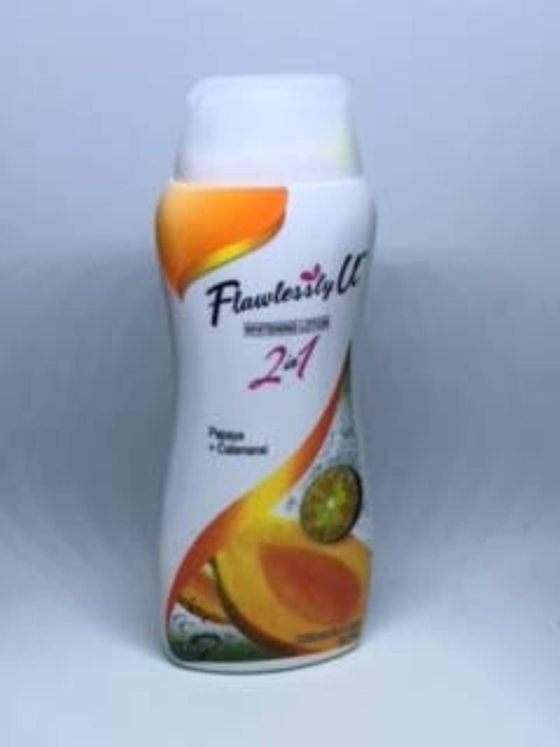 リラックスチャットこするFlswlessly U Papaya&Calamansi 2in1 Whitening Lotion 100ml