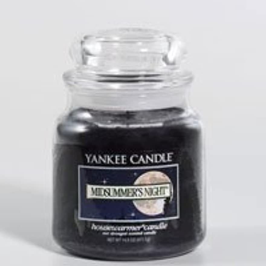 編集者スクワイアティッシュYankee Candle 14.5Oz Medium Jar-Yankee Candle Midsummers Night Medium 14.5Oz Jar by Yankee Candle [並行輸入品]