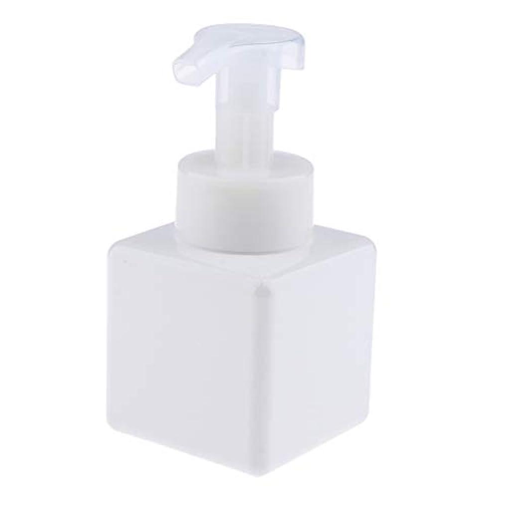 人差し指太字放映浴室の台所ホテル用 詰め替え式 泡立つ石鹸ディスペンサーポンプびん 正方形 250ml - 白