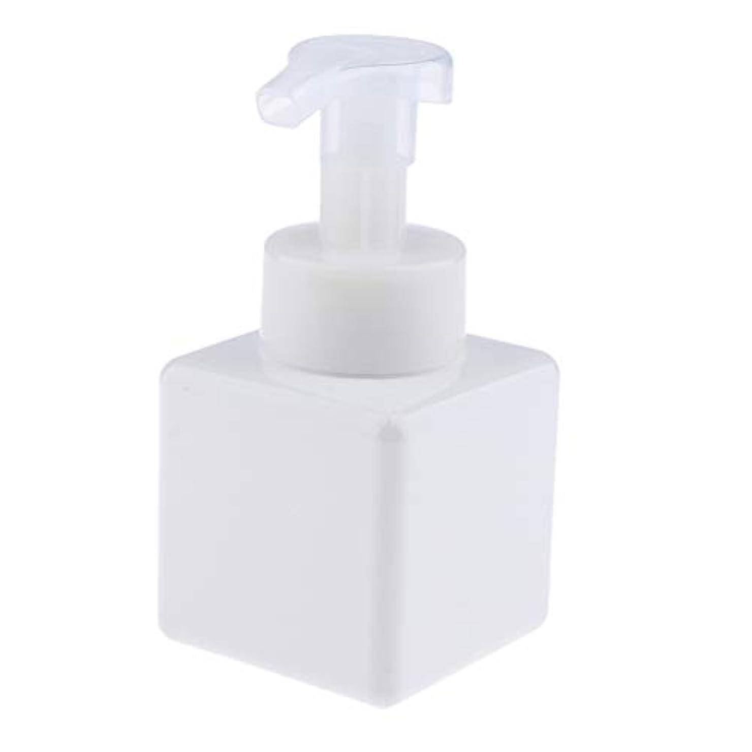 幻滅段落捧げる浴室の台所ホテル用 詰め替え式 泡立つ石鹸ディスペンサーポンプびん 正方形 250ml - 白