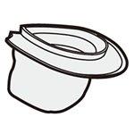 シャープ[SHARP]シャープ掃除機用ダストカップフィルター(217 337 0542)【2173370542】