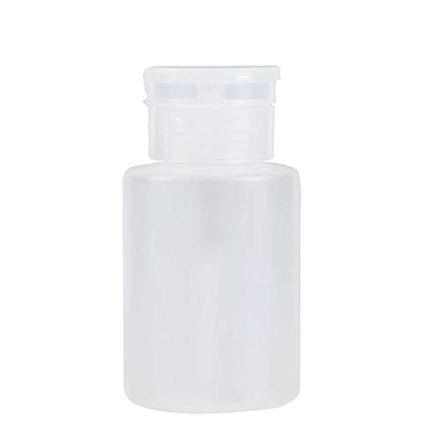 記述するフィードまで120ミリリットルポンプネイルアートクリーナー空のリムーバーボトル, 120MLポンプディスペンサーネイルアートアクリルアルコール液体クリーナー空のリムーバーボトル