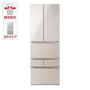 東芝 509L 6ドア冷蔵庫(サテンゴールド)TOSHIBA VEGETA(べジータ) GR-M510FD-EC