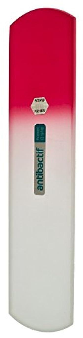 干ばつ目覚める合わせてBLAZEK(ブラジェク) 抗菌ガラスやすり かかと用160mm(ピンクグラデーション)
