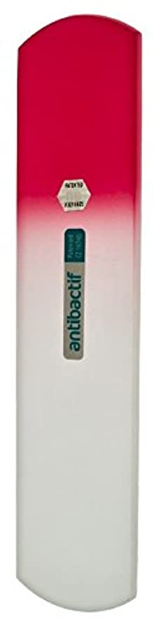 上向き正統派満員BLAZEK(ブラジェク) 抗菌ガラスやすり かかと用160mm(ピンクグラデーション)