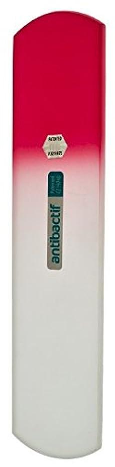 検出振り子埋めるBLAZEK(ブラジェク) 抗菌ガラスやすり かかと用160mm(ピンクグラデーション)
