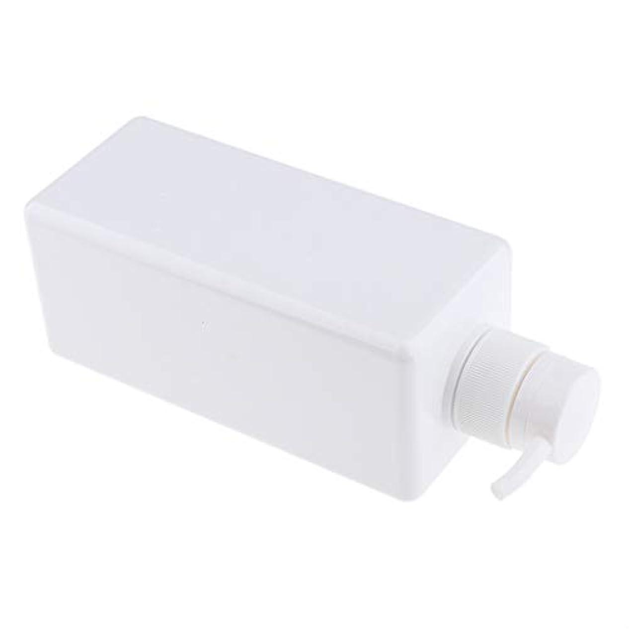 獣書道コークスソープディスペンサー ローションボトル シャンプーコンテナ 650ml 高品質 プラスチック 4色選べ - 白