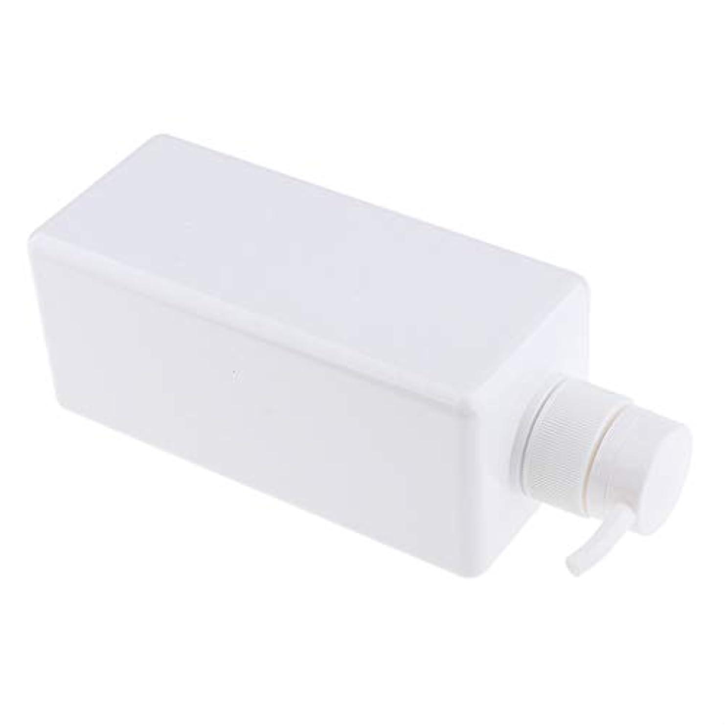 円形ねじれベーカリーソープディスペンサー ローションボトル シャンプーコンテナ 650ml 高品質 プラスチック 4色選べ - 白