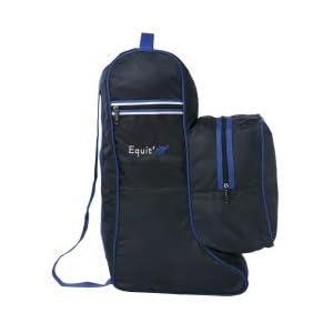 EKKIA(エキア) 乗馬用ブーツバッグ ヘルメット ブルー E'M BOOT.BAG+HELMET NAVY/BLUE 940120707 940120707