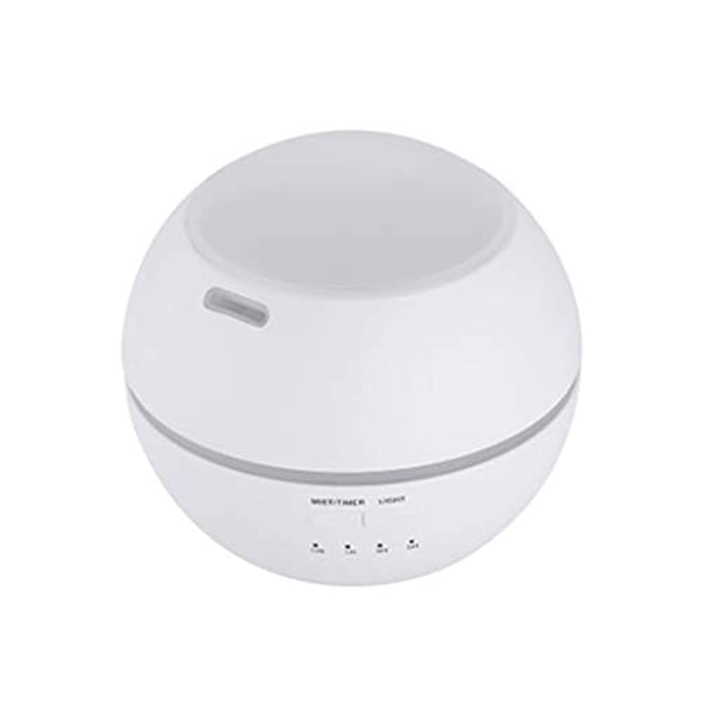 まっすぐ保険噴水マルチライトマシンクリエイティブ超音波加湿器ランプ家庭用必須ディフューザーギフト (Color : White)