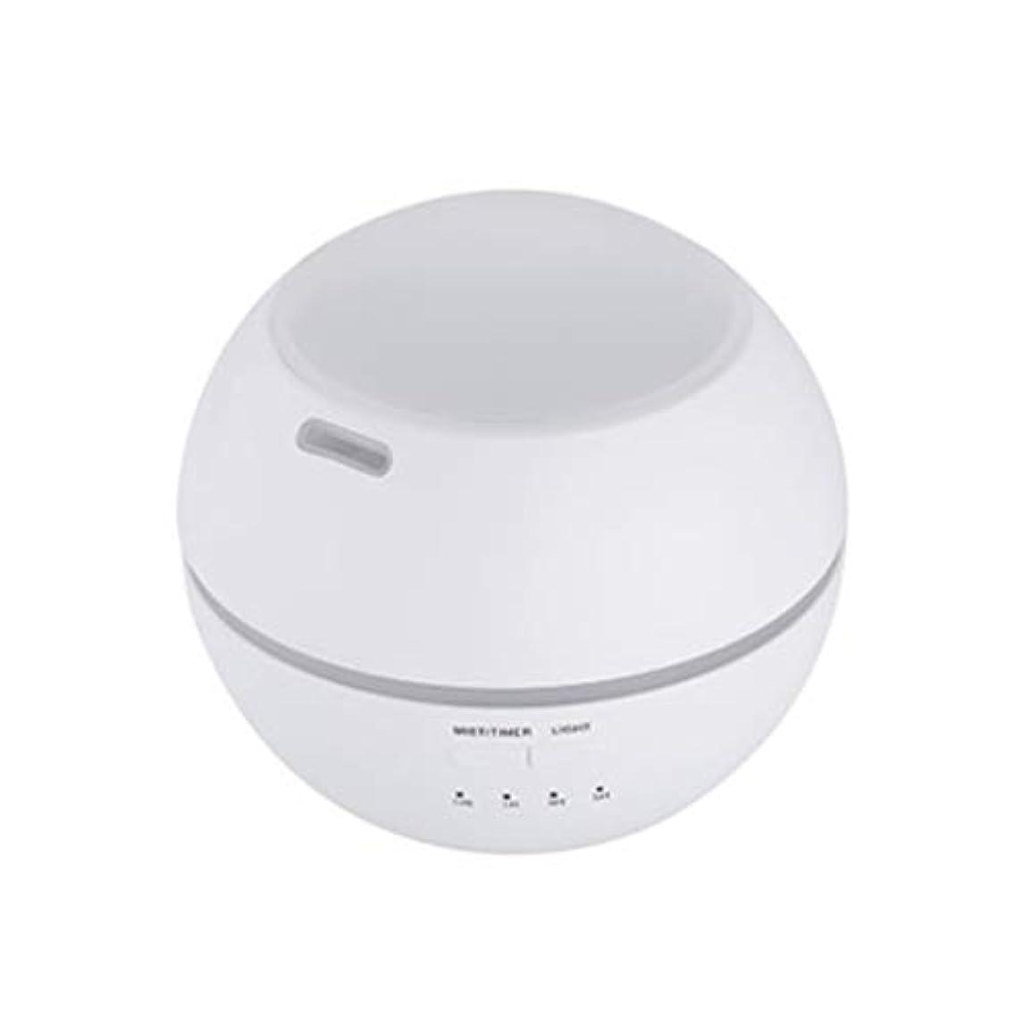 肺炎湾円形マルチライトマシンクリエイティブ超音波加湿器ランプ家庭用必須ディフューザーギフト (Color : White)