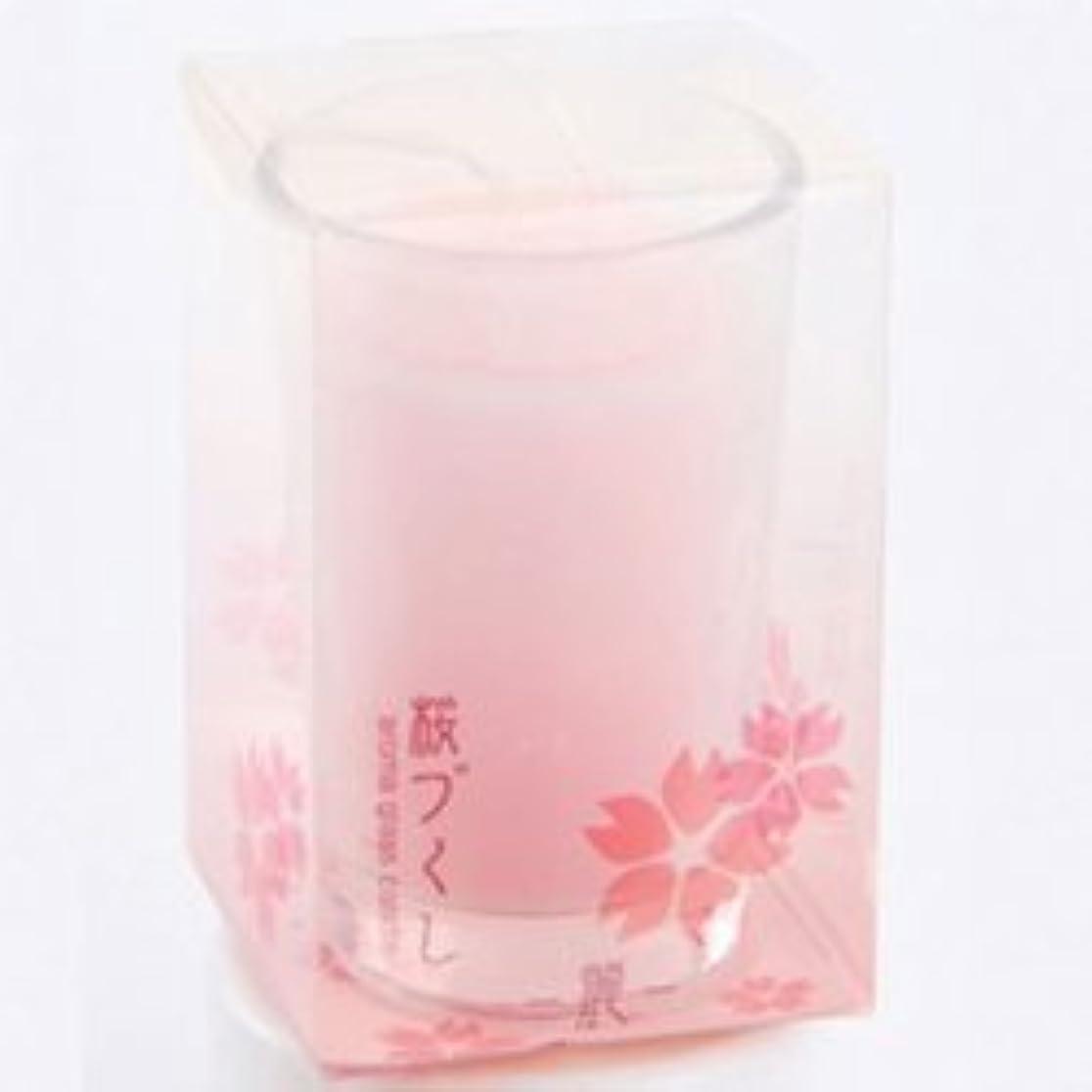 アナウンサー窓を洗うしがみつくグラスキャンドル 桜づくし 麗