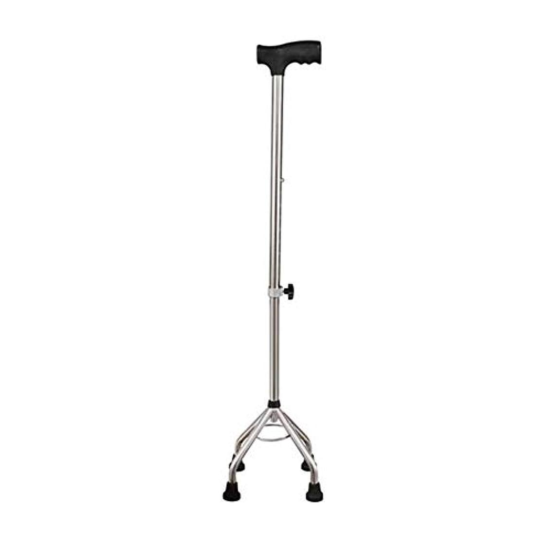 違反する考えた天井4本の足の滑り止めの基礎が付いている年配のステッキ、軽量の松葉杖ステンレス鋼の安全調節可能な高さ、年配の男性女性のための銀製の杖障害者
