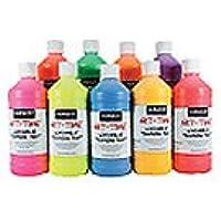 Art Supplies 225720 Fluorescent Tempera Paint - Red