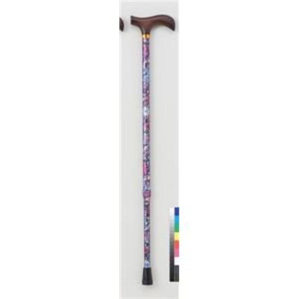 終わらせるヒステリックしかし杖/フラワー伸縮ステッキII (2) 長さ10段階調節可 アルミ (歩行補助用品/介護用品)あか紫(赤紫)