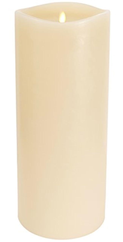 反論者熟読するスチールLuminara ラージフレームレスキャンドル :360度 匂いがなく炎が揺らめくように光るタイマー付きキャンドル Large Luminara