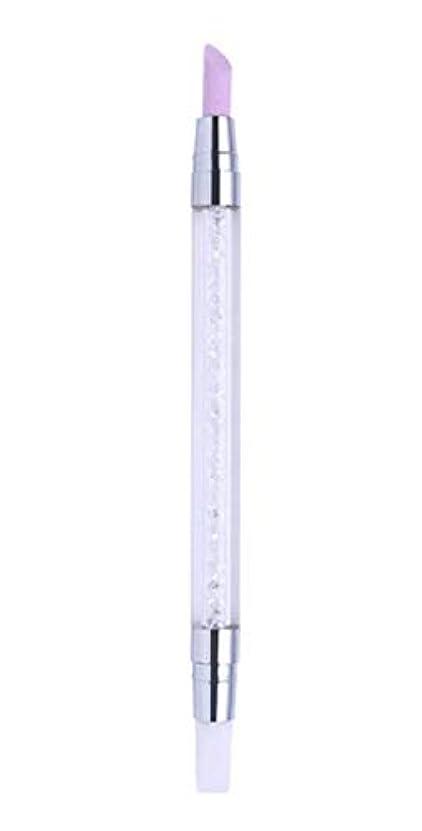 オデュッセウス私達ショッキング甘皮プッシャー シリコンブラシ 筆 2WAY 仕様 甘皮処理 ネイルアートツール ジェルネイル用品 QT-008