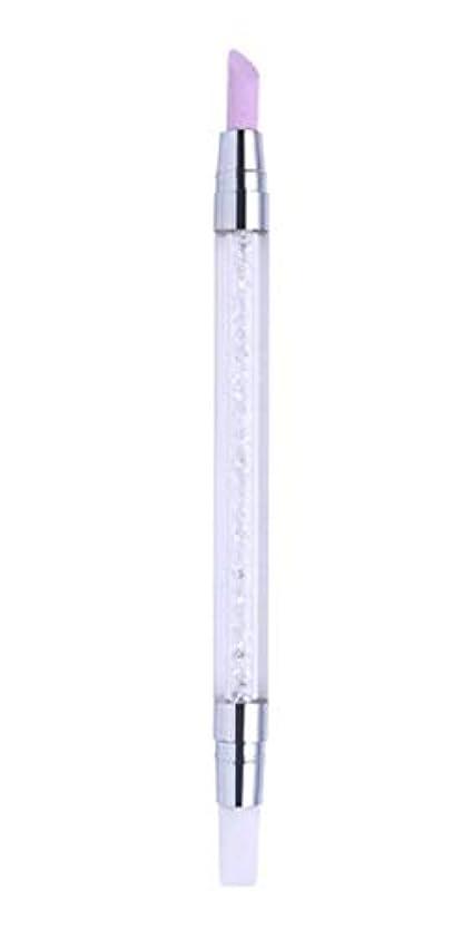 命令旅行代理店またはどちらか甘皮プッシャー シリコンブラシ 筆 2WAY 仕様 甘皮処理 ネイルアートツール ジェルネイル用品 QT-008