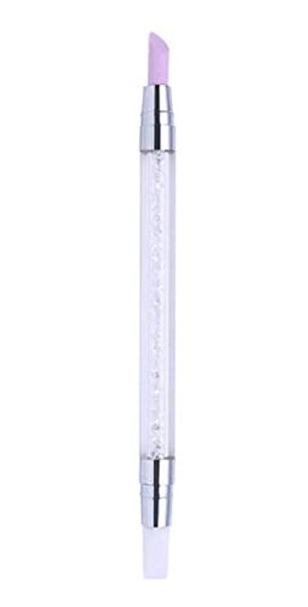 北へ北生物学甘皮プッシャー シリコンブラシ 筆 2WAY 仕様 甘皮処理 ネイルアートツール ジェルネイル用品 QT-008