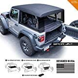GPCA JL 2DR Cargo Cover LITE Jeep Wrangler Sport Sahara Rubicon 2018-2019 Model (JL 2DR. Hardtop)