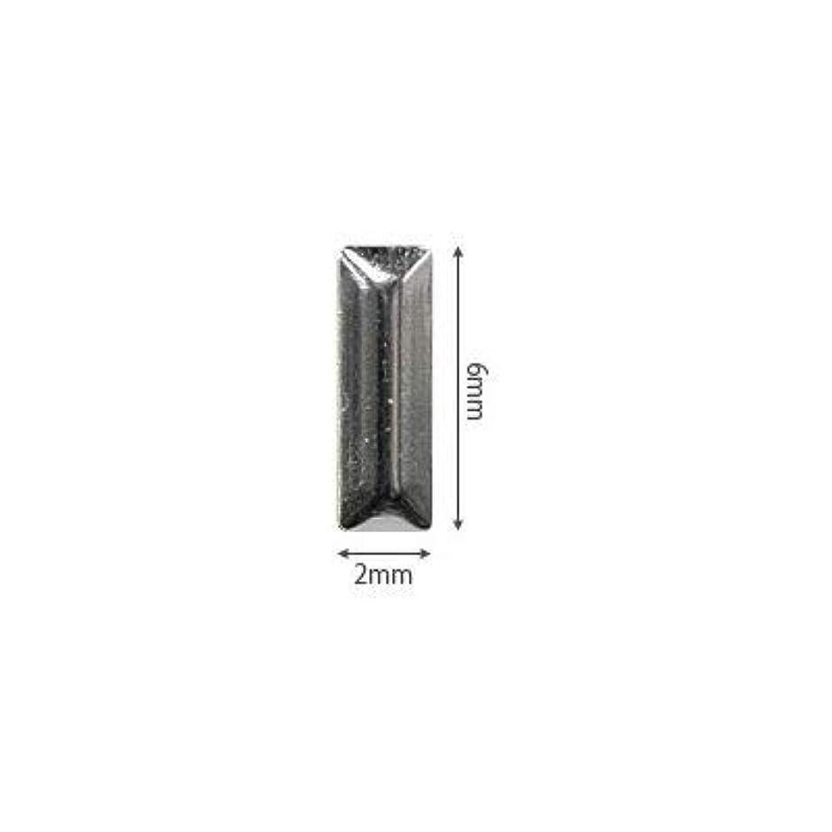 ムスタチオ割り込み傾向があるSHAREYDVA スタッズ メタル長方形 2×6mm 50P シルバー