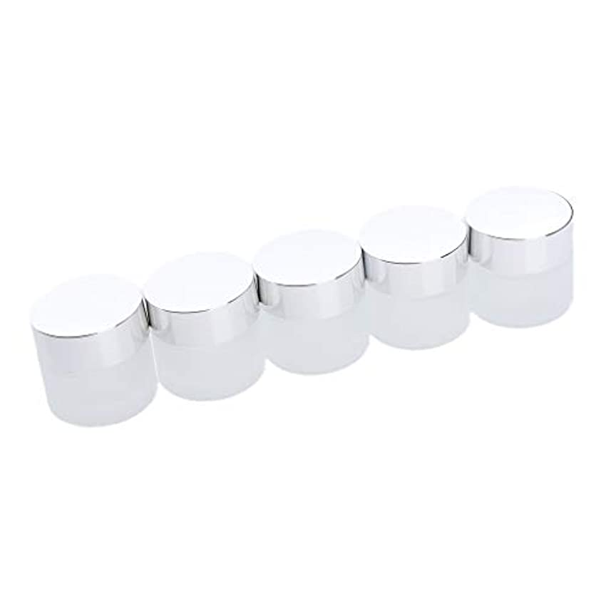 亜熱帯下ペインティングメイクアップボトル ガラス瓶 フェイスクリーム 小分け容器 旅行用 5本 2サイズ - 10g