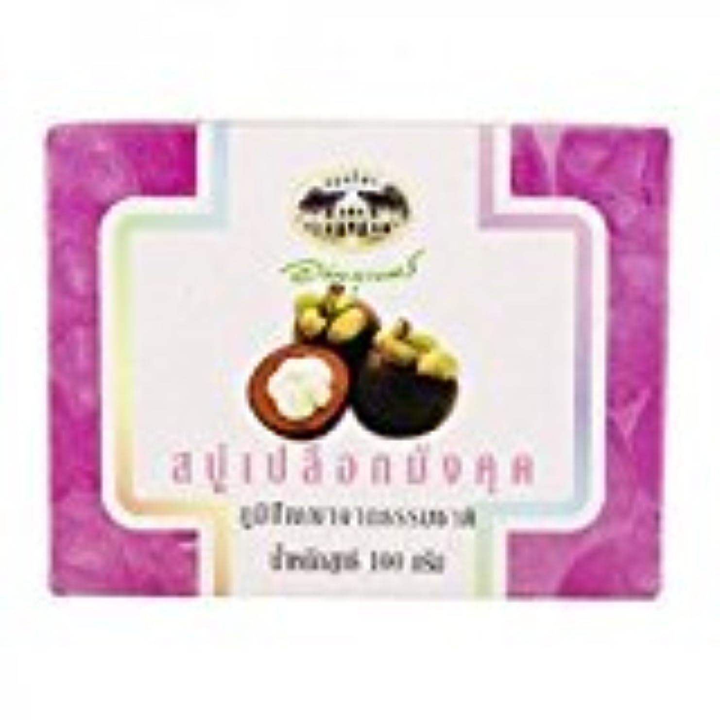 厚さ極小悲しむマンゴスチン石鹸 abhaibhubejhr Mangosteen Peel Soap 100g 1個